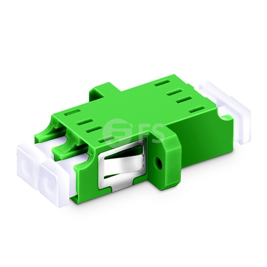 LC/APC to LC/APC Duplex Single Mode Plastic Fibre Optic Adapter/Mating Sleeve with Flange
