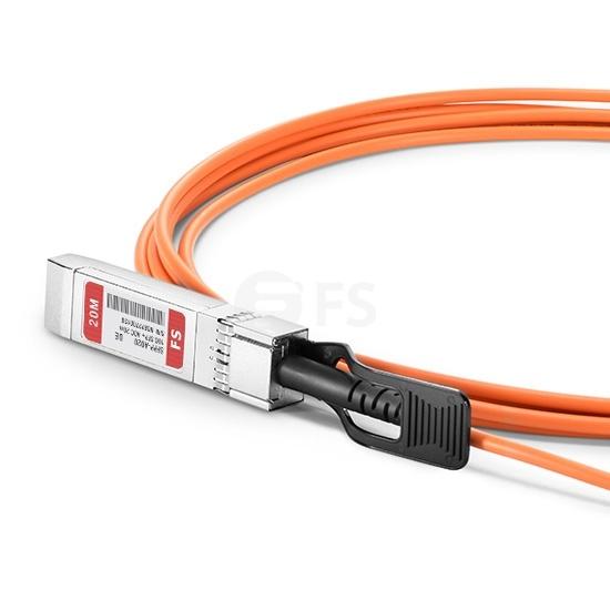 20m 戴尔(Dell)兼容/力腾(Force10)兼容CBL-10GSFP-AOC-20M SFP+ 转 SFP+ 有源光缆