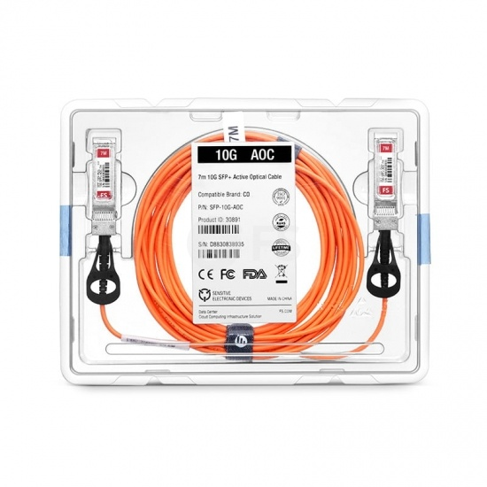 7m 瞻博(Juniper)兼容EX-SFP-10GE-AOC-7M SFP+ 转 SFP+ 有源光缆