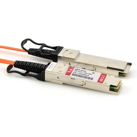 20m 瞻博(Juniper)兼容EX-SFP-40GE-AOC-20M QSFP+ 转 QSFP+ 有源光缆