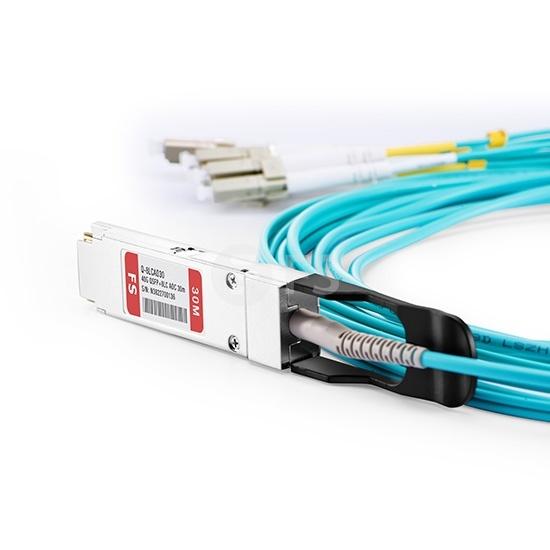 30m 思科(Cisco)兼容QSFP-8LC-AOC30M QSFP+ 转 4LC双工 有源分支光缆