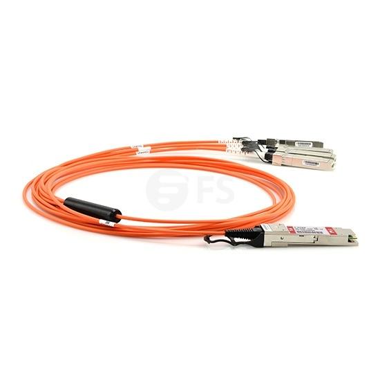 1m Arista Networks兼容QSFP-4X10G-AOC1M QSFP+ 转 4SFP+ 有源分支光缆