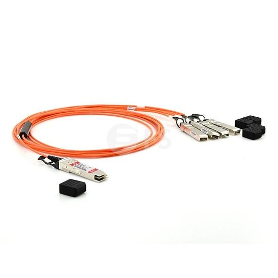 3m Arista Networks兼容QSFP-4X10G-AOC3M QSFP+ 转 4SFP+ 有源分支光缆