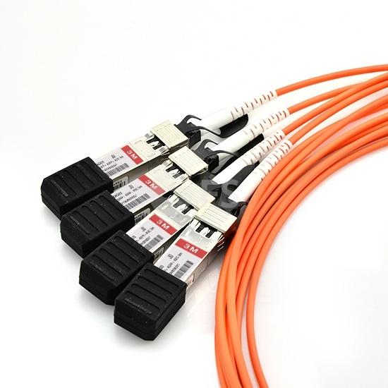 3m 瞻博(Juniper)兼容EX-QSFP-4X10G-AOC3M QSFP+ 转 4SFP+ 有源分支光缆