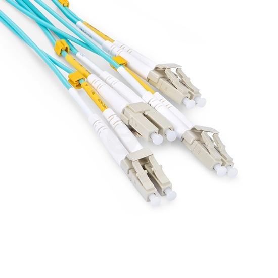 30m 博科(Brocade)兼容QSFP-8LC-AOC-3001 QSFP+ 转 4LC双工 有源分支光缆