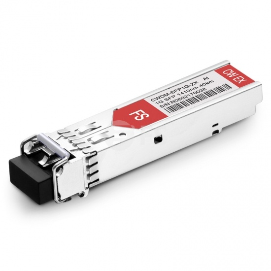 Arista Networks SFP-1G-CW-1410 Compatible 1000BASE-CWDM SFP 1410nm 40km DOM LC SMF Transceiver Module