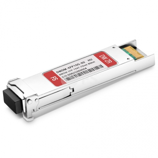 Módulo transceptor compatible con HW C37 DWDM-XFP-47.72, 10G DWDM XFP 100GHz 1547.72nm 80km DOM LC SMF