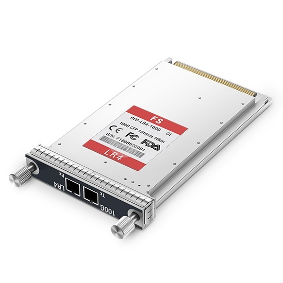 CFP Ciena 160-9113-900 Compatible 100GBASE-LR4 and OTU4 CFP 1310nm 10km DOM LC SMF LC DOM Transceiver Module for SMF