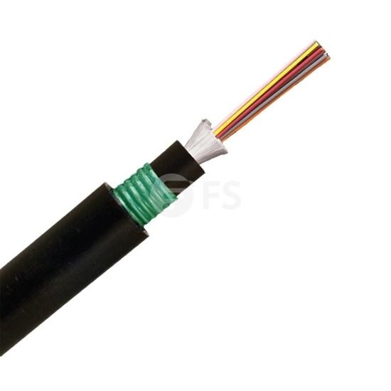 Câble de Distribution Imperméable à Structure Serrée pour Intérieur/Extérieur, 24 Fibres Multimode 50/125 OM3, LSZH, Seule Armure, Double Gaine, GJFZY53