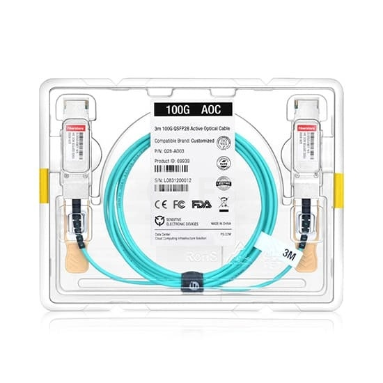 10m 戴尔(Dell)兼容AOC-QSFP28-100G-10M QSFP28 转 QSFP28 有源光缆