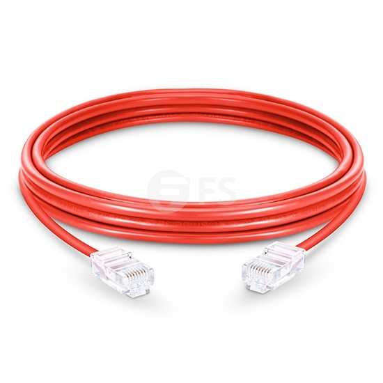 Cable de red Ethernet LAN RJ45 UTP Cat6 10m 10/100/1000 Mbps hasta 10 Gbps PVC - rojo