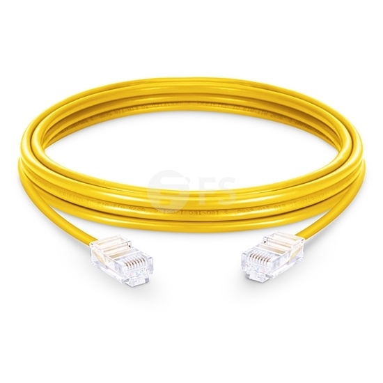 33ft (10m) Cat6 Non-booted Unshielded (UTP) PVC Ethernet Network Patch Cable, Yellow
