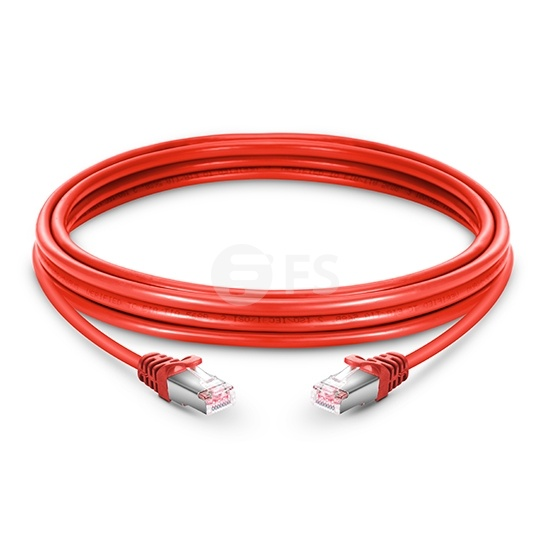 16ft (5m) Cat6 Snagless Shielded (SFTP) PVC Ethernet Network Patch Cable, Red