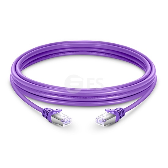 23ft (7m) Cat6 Snagless Shielded (SFTP) PVC Ethernet Network Patch Cable, Purple