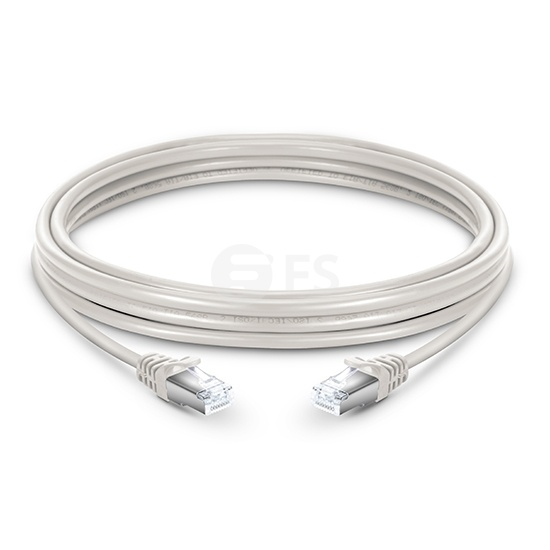 10ft (3m) Cat6 Snagless Shielded (SFTP) PVC Ethernet Network Patch Cable, White