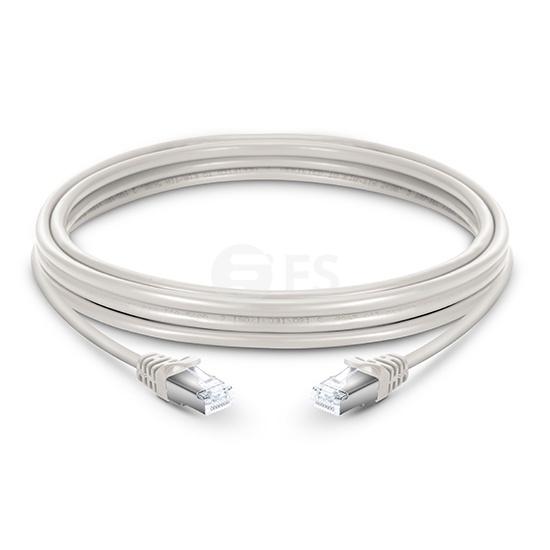 6,6ft (2m) Câble Réseau Ethernet Cat6a Snagless Blindé (SFTP) LSZH, Blanc Cassé