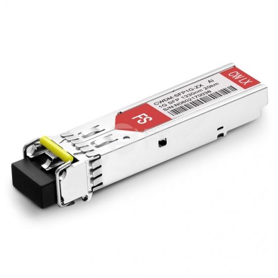 Arista Networks SFP-1G-CW-1330-20 Compatible 1000BASE-CWDM SFP 1330nm 20km DOM LC SMF Transceiver Module