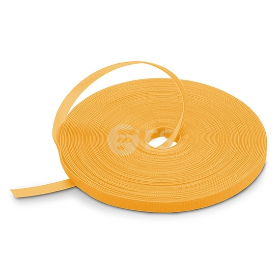 25m/Roll 1000in.L x 0.48in.W Back to Back Reusable  Cable Ties - Yellow