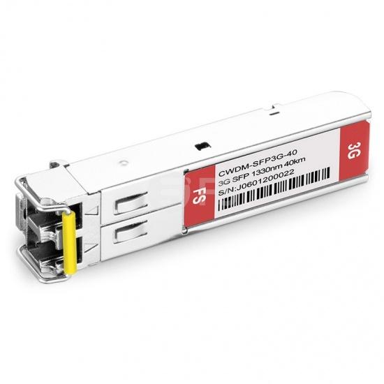 3G-SD/HD/3G-SDI MSA 数字视频 CWDM SFP光模块 1330nm 40km  收发一体 病理式