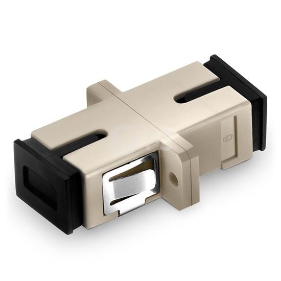 Adaptateur à Fibre Optique/Manchon d'Accouplement Plastique SC/UPC vers SC/UPC Simplex OM1/OM2 Multimode avec Bride