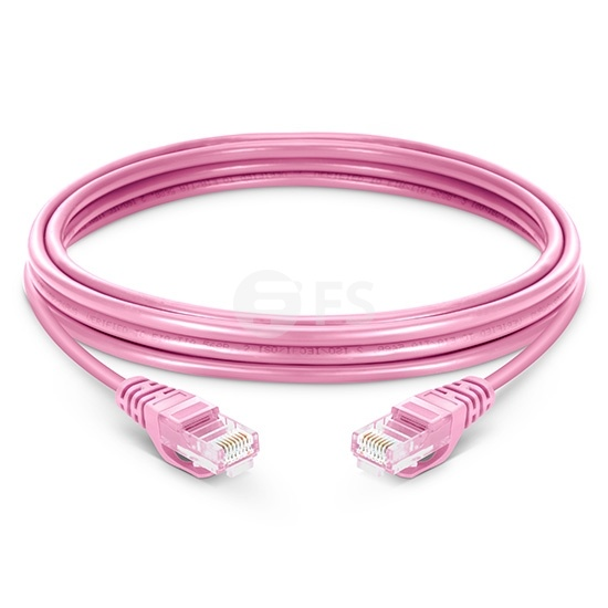 10ft (3m) Cat5e Snagless Unshielded (UTP) PVC Ethernet NetworkPatch Cable, Pink