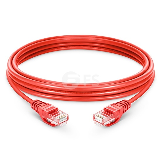 16ft (5m) Cat5e Snagless Unshielded (UTP) PVC Ethernet Network Patch Cable, Red