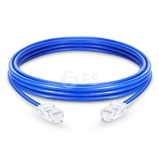 16ft (5m)Cat5e 保護カバーなし シールドなし(UTP)イーサネットネットワーク用LANパッチケーブル(PVC、青色)