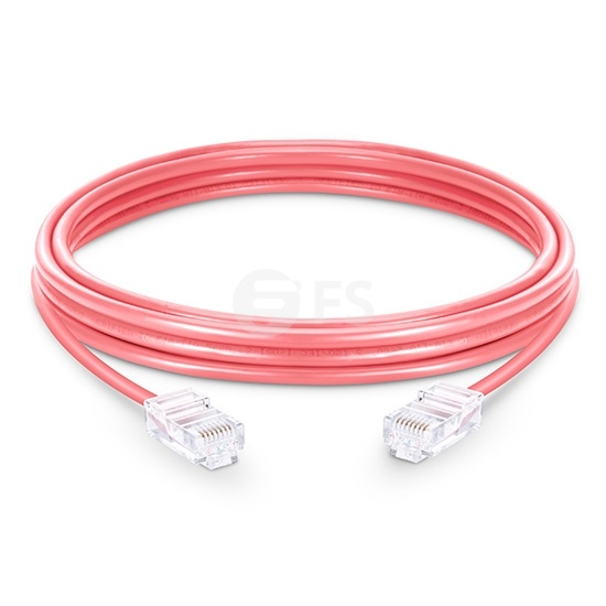 Cable de red Ethernet LAN RJ45 UTP Cat5e 5m 10/100/1000 Mbps PVC - rosa