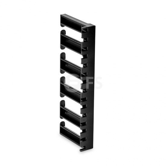 5U 3'' Wide Plastic Vertical Cable Manager with Bend Radius Finger