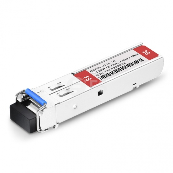 3Gb/s MSA BiDi SFP 1310nm-TX/1550nm-RX 10km Módulo transceptor con patrones patológicos de vídeo para SD/HD/3G-SDI