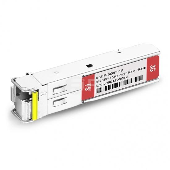3G-SD/HD/3G-SDI MSA 数字视频 BiDi SFP单纤双向光模块 1550nm-TX/1310nm-RX 10km  收发一体 病理式