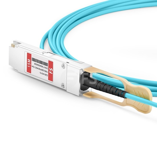 15m 飞速(FS) Q28-AO15 QSFP28 转 QSFP28 有源光缆