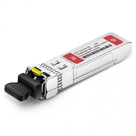 HW S-SFP-GE-LH80-SM1550 Compatible 1000BASE-ZX SFP 1550nm 80km DOM LC SMF Transceiver Module