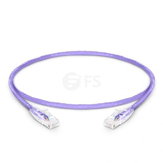 1ft (0.3m) Cat5e Snagless Unshielded (UTP) PVC CM Ethernet Patch Cable, Purple