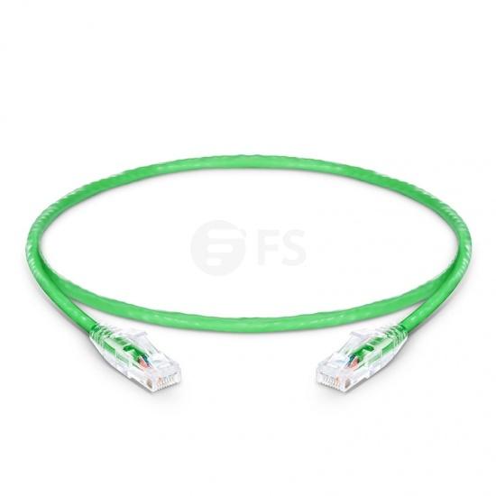 Cable de Red Ethernet LAN RJ45 UTP Cat 5e 0.3m 10/100/1000 Mbps PVC CM Verde