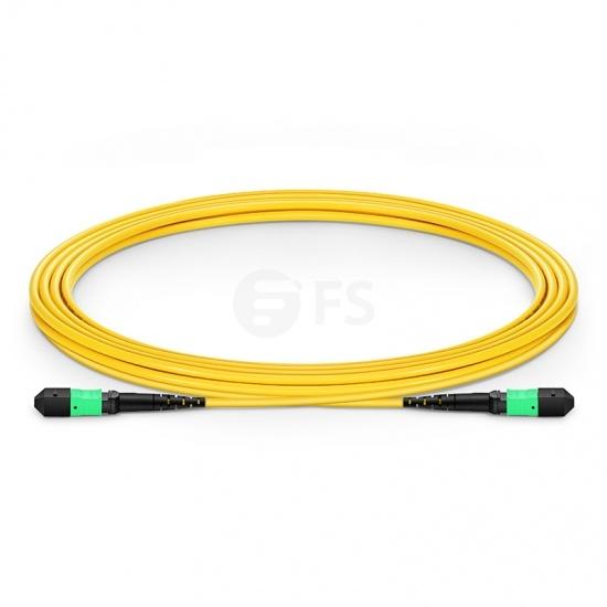 Cable troncal de fibra óptica OS2 9/125 monomodo MTP®-MTP® 12 fibras tipo A, Élite, plenum (OFNP) 3m - amarillo