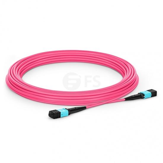 10m 12芯 MPO(母)万兆多模OM4主干光纤跳线,极性B ,低插损,LSZH