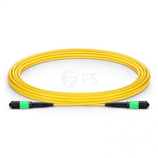 Cable troncal Elite Senko MPO hembra 12 fibras tipo A LSZH OS2 9/125 monomodo, amarillo, 5m