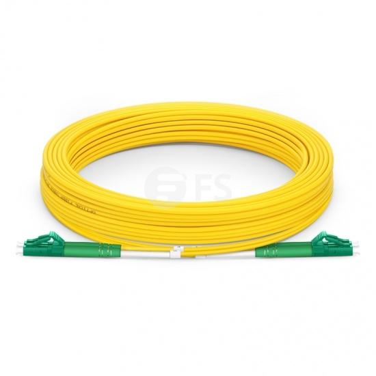 30m (98ft) LC APC to LC APC Duplex 3.0mm PVC (OFNR) 9/125 Single Mode Fiber Patch Cable