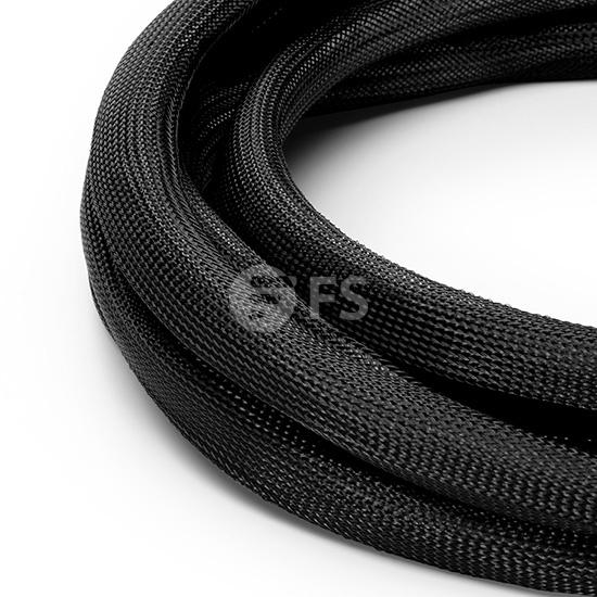 7M CAT6A超六类屏蔽预端接主干线缆 6*插口-6*插口,米白色,PVC CMR