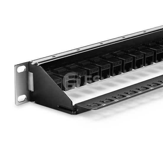 24 口 高密度Cat5e 超五类非屏蔽(UTP)直通型网络配线架