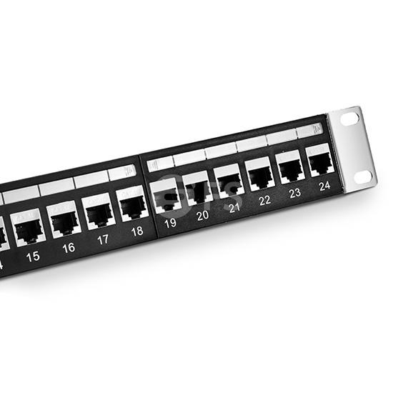 24 口 高密度Cat5e 超五类双屏蔽(SFTP)直通型网络配线架