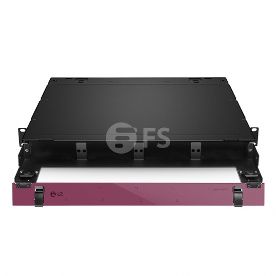 FHD High Density 1U Rack Mount Enclosure Unloaded, Sliding Drawer, Holds up to 4x FHD Cassettes or Panels