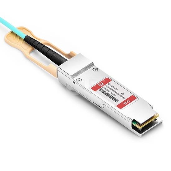 30m 瞻博(Juniper)兼容JNP-100G-4X25G-30M 100G QSFP28 转 4xSFP28 OM3 有源分支光缆