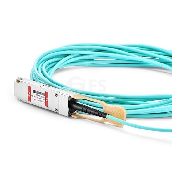 50m 博科(Brocade)兼容100G-Q28-S28-AOC-5001 100G QSFP28 转 4xSFP28  OM3 有源分支光缆