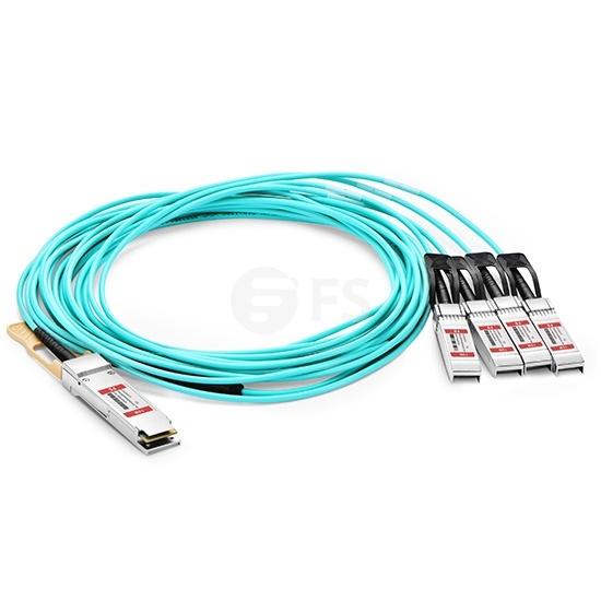 15m 极进(Extreme)兼容100G QSFP28 转 4xSFP28  OM3 有源分支光缆