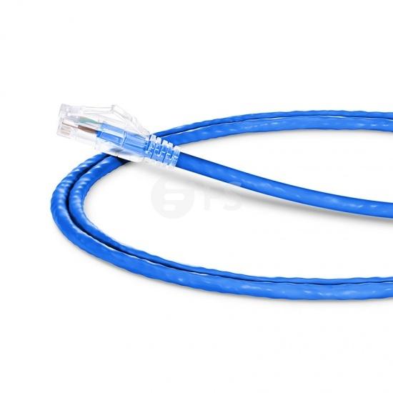 0.9m Cat5e超五类非屏蔽(UTP)网络跳线,卡沟设计,蓝色,PVC  CM