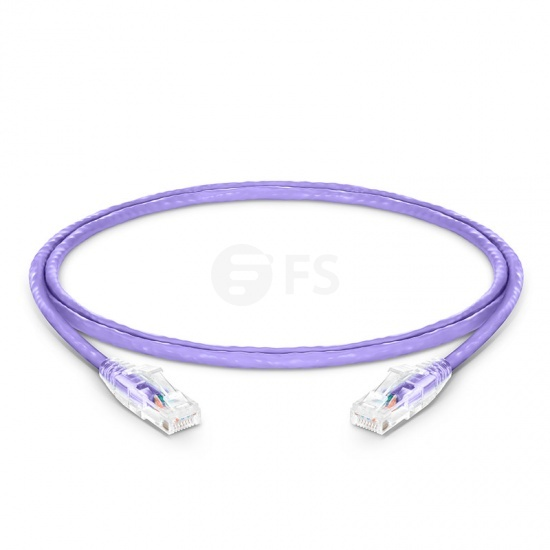 3ft (0.9m) Cat6 Snagless Unshielded (UTP) PVC CM Ethernet Network Patch Cable, Purple