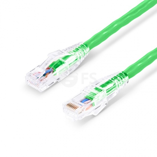 0.9m Cat6六类非屏蔽(UTP)网络跳线,卡沟设计,绿色,PVC CM