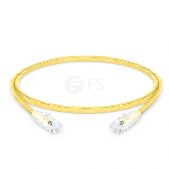 1.2m Cat6 Ethernet Patch Cable - Snagless, Unshielded (UTP) PVC CM , Yellow